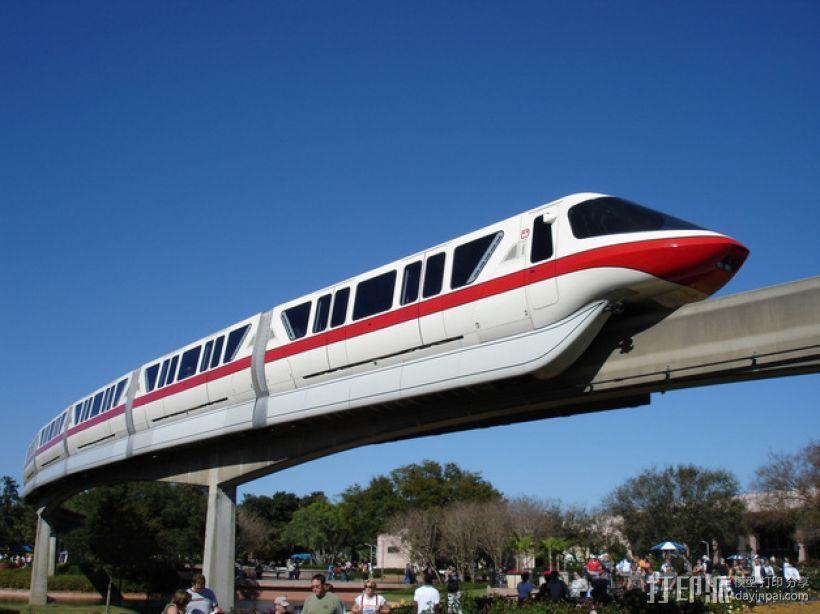迪士尼乐园单轨铁路 3D打印模型渲染图