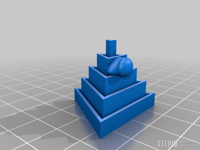 金字塔 3D打印模型渲染图