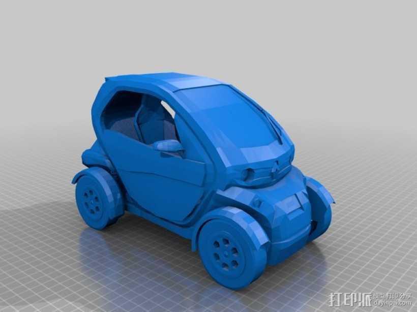 renault twizy 雷诺汽车 3D打印模型渲染图