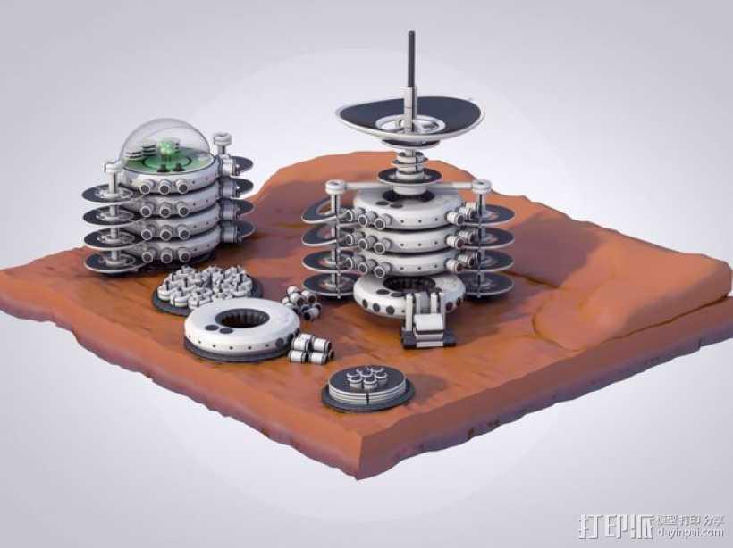 火星便携式基站 3D打印模型渲染图