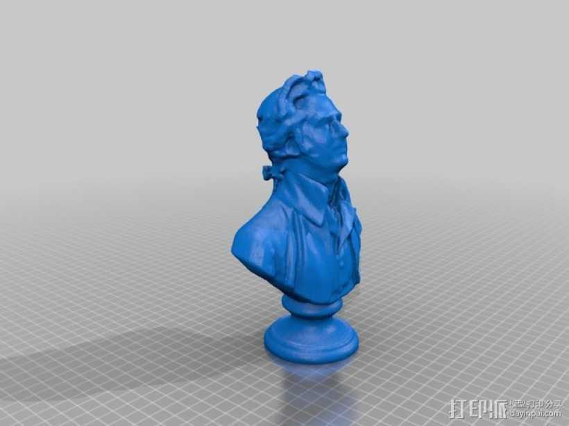 Bremas Brefferson人像雕塑  3D打印模型渲染图