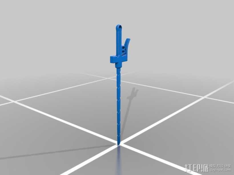 进击的巨人 巨人之剑 3D打印模型渲染图