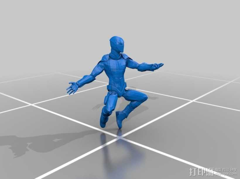 蜘蛛侠 3D打印模型渲染图