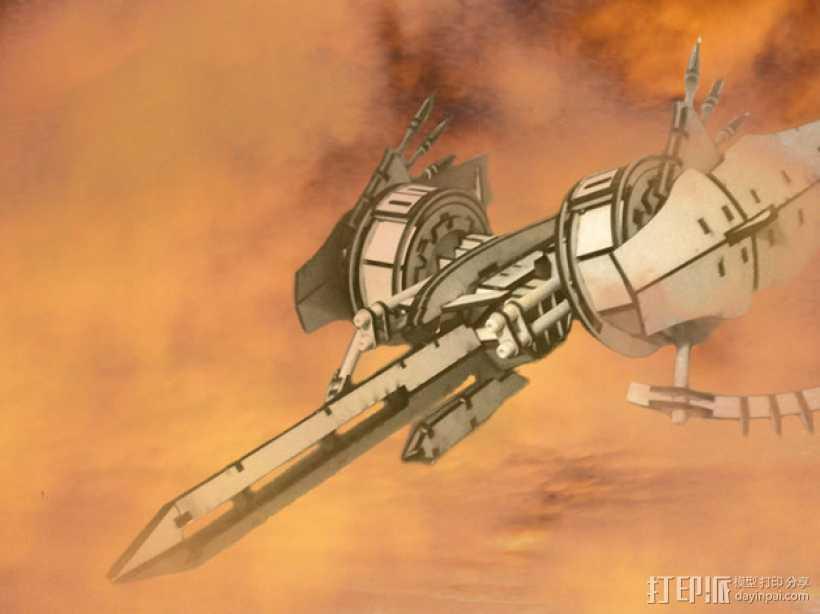 斑鸠战斗机 3D打印模型渲染图
