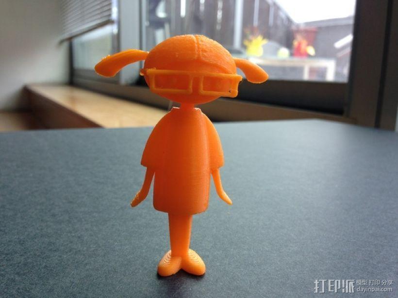 Carla人形玩偶 3D打印模型渲染图