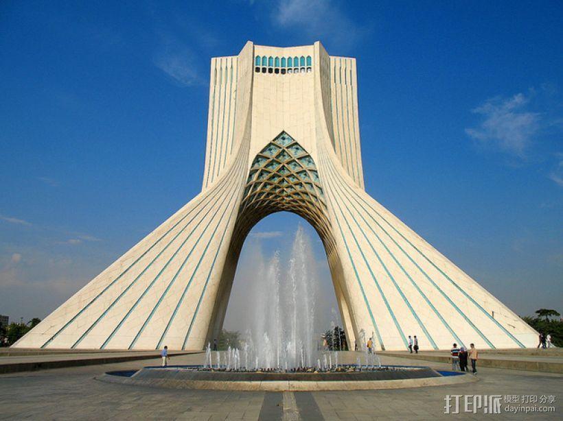 阿扎迪自由纪念塔 3D打印模型渲染图