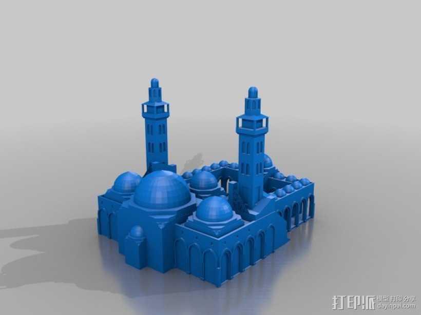 扎耶得清真寺 3D打印模型渲染图