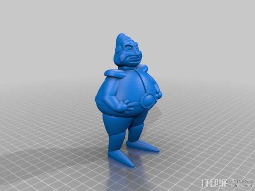 罗伯尼克博士(Dr.Robotnik) 3D打印模型渲染图