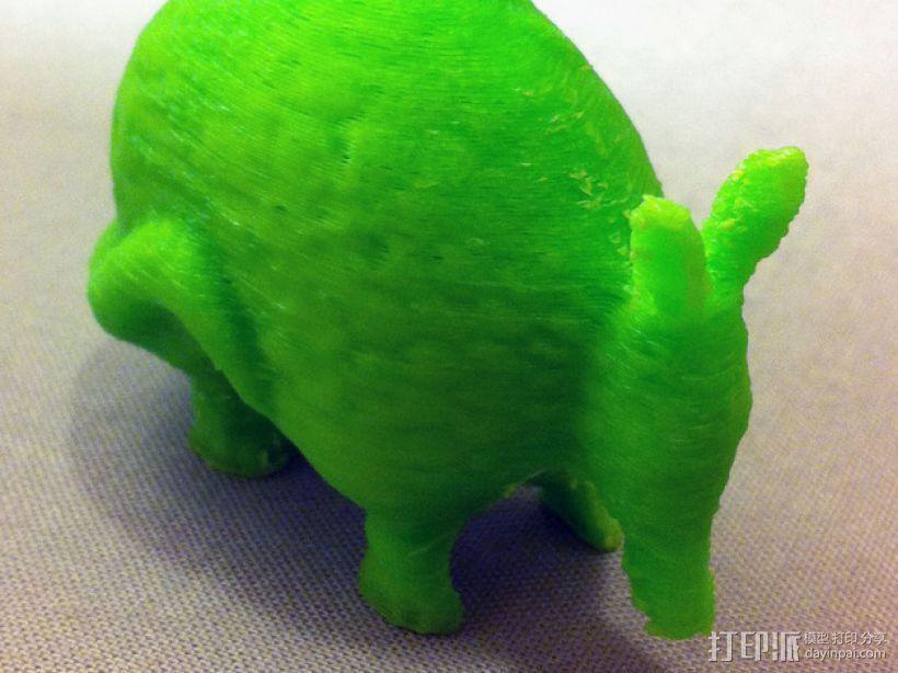 犰狳 穿山甲 3D打印模型渲染图