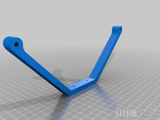 起落架 起落装置 3D打印模型渲染图