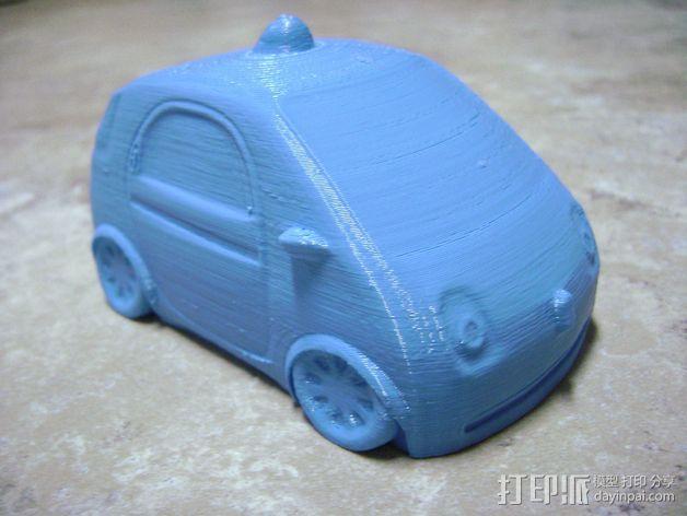 谷歌自驾车 3D打印模型渲染图