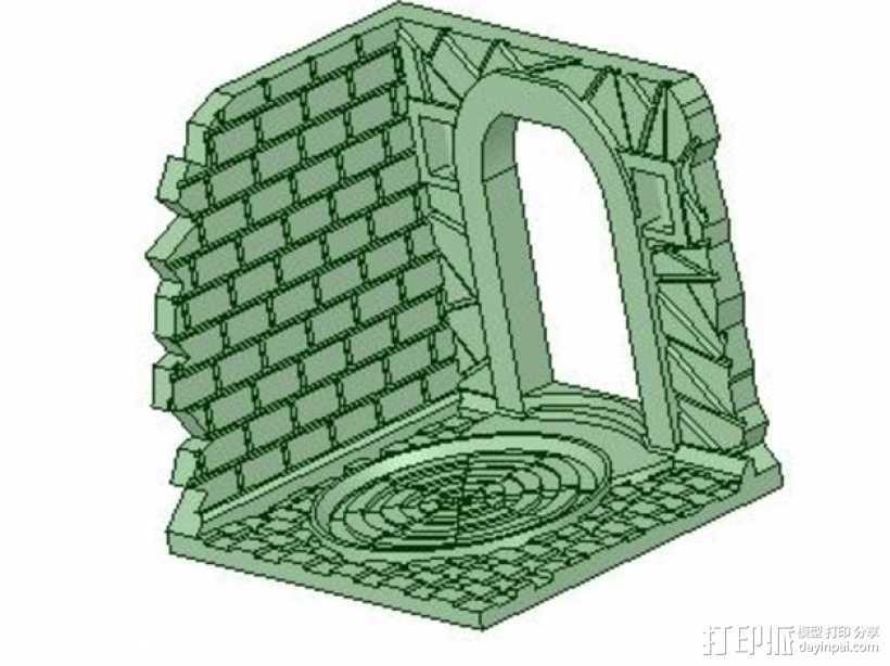 门道  3D打印模型渲染图