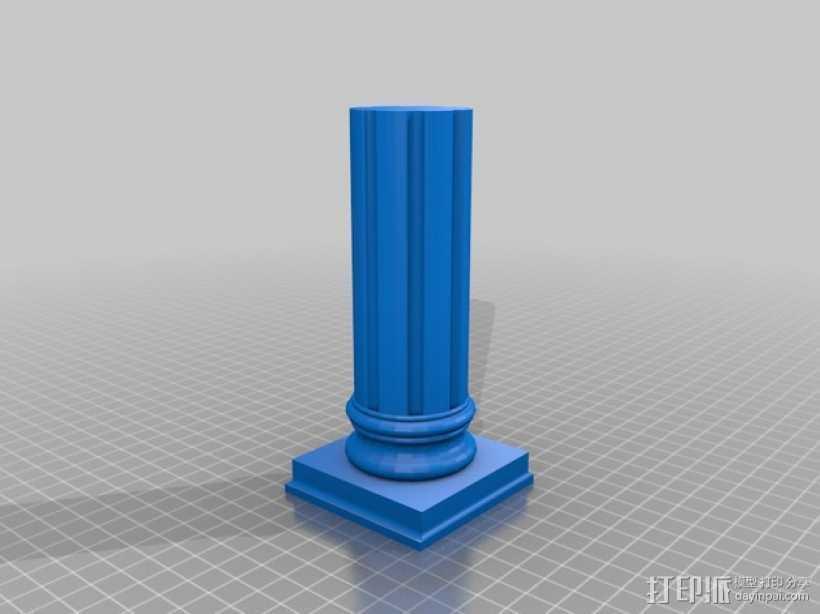 旧式柱梁 3D打印模型渲染图