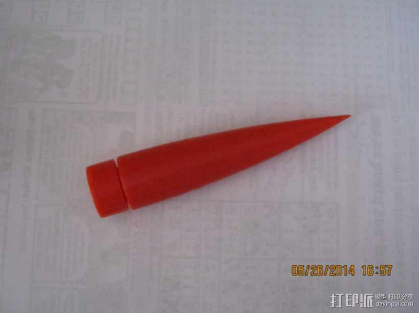 火箭鼻锥  3D打印模型渲染图