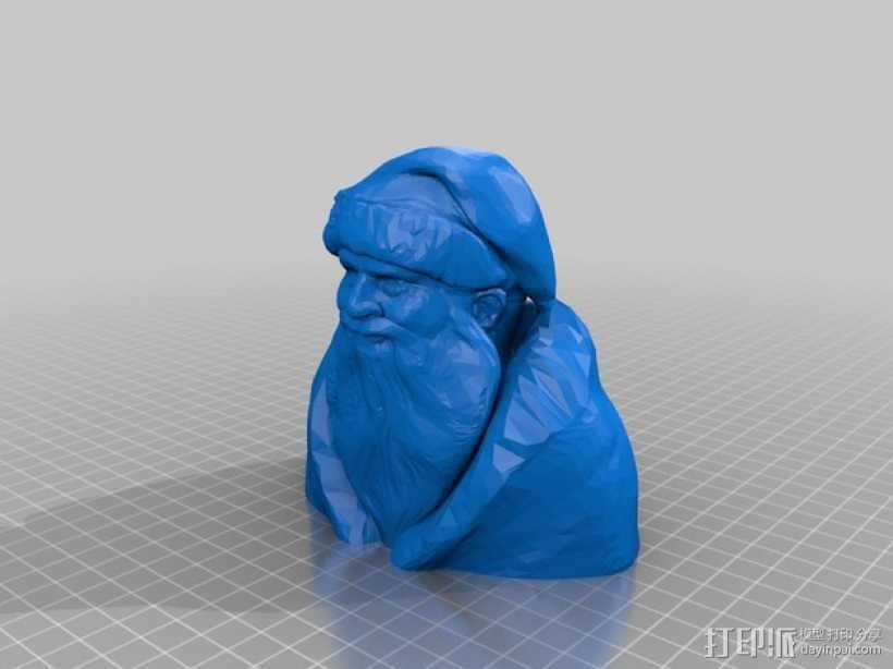 圣诞老人半身像 3D打印模型渲染图