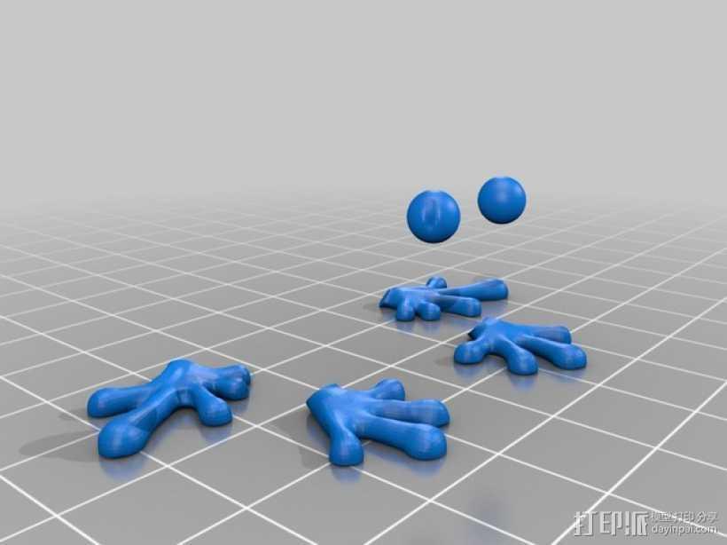 树蛙  3D打印模型渲染图