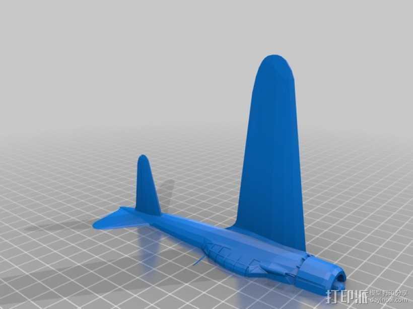 Zero A6M战斗机  3D打印模型渲染图