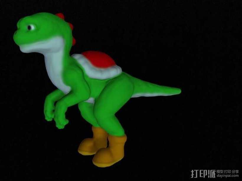 耀西小恐龙 3D打印模型渲染图
