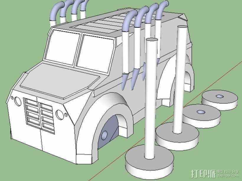 Monsta卡车 3D打印模型渲染图