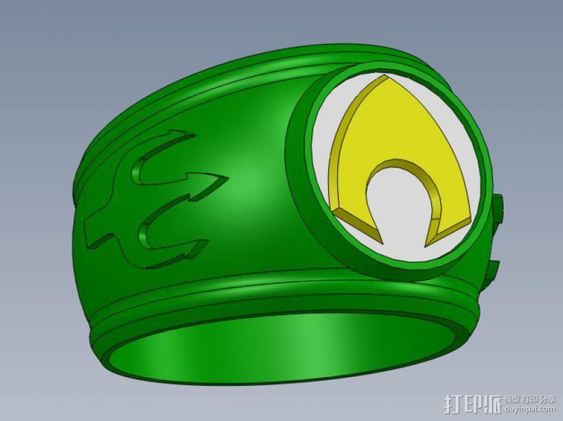 正义联盟指环 3D打印模型渲染图