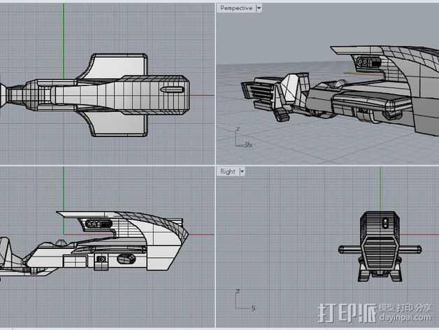 喷气自行车 3D打印模型渲染图