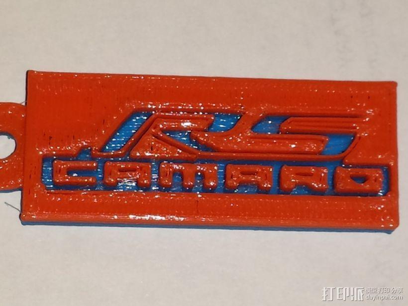 Camaro 科迈罗钥匙扣 3D打印模型渲染图