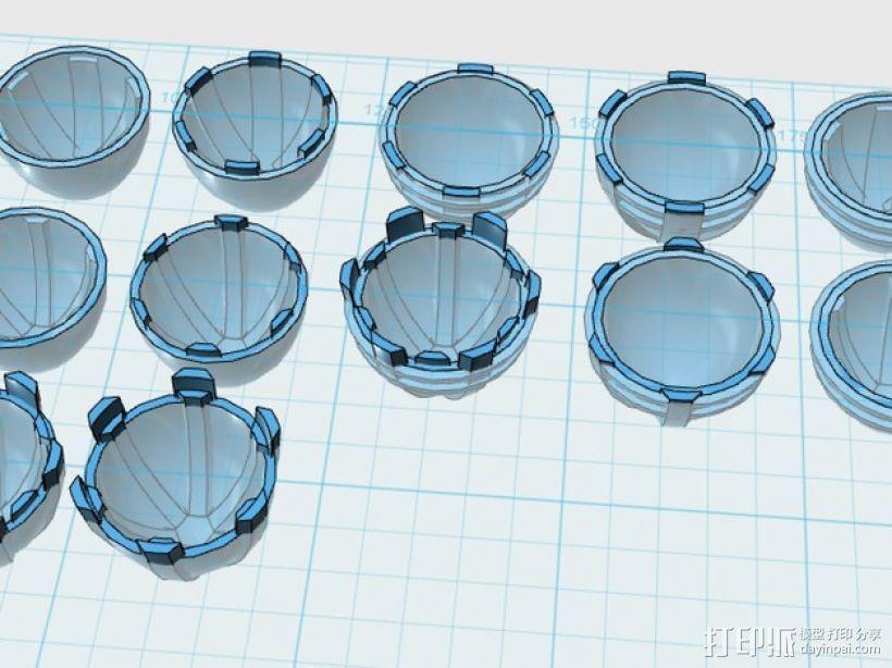 主推进器锥轮 3D打印模型渲染图