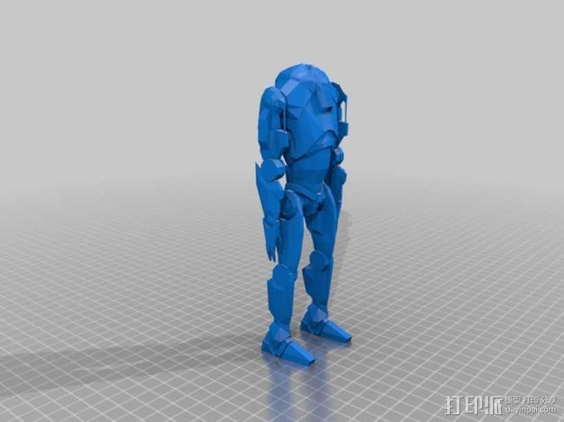 星球大战超级战士机器人 3D打印模型渲染图