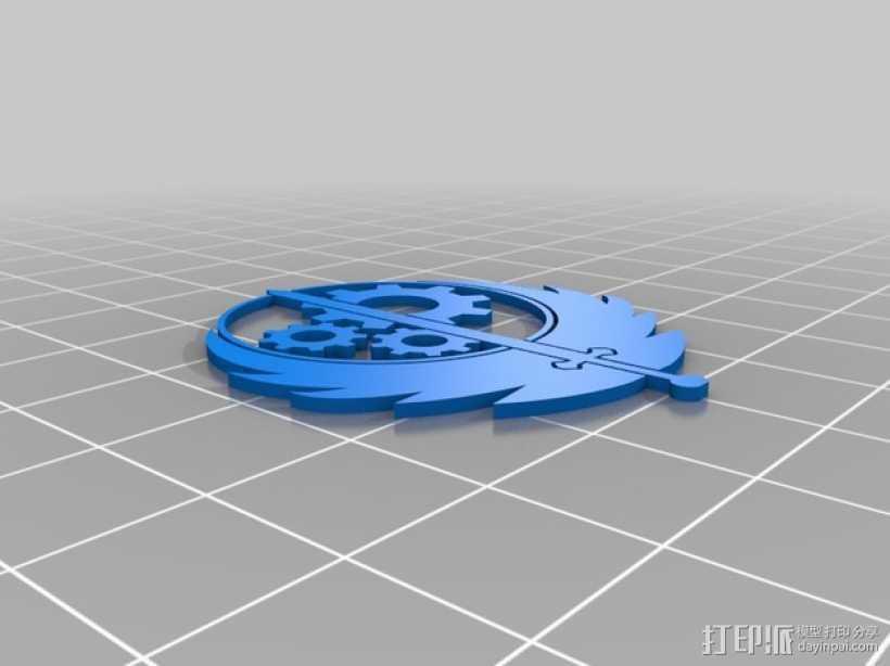 钢铁兄弟会 标志 3D打印模型渲染图