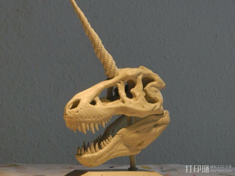 独角霸王龙 3D打印模型渲染图