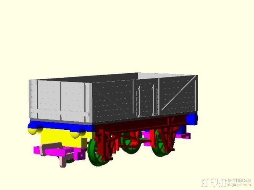 旧式货车 卡车  3D打印模型渲染图
