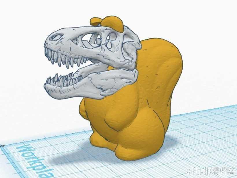 松鼠霸王龙 3D打印模型渲染图