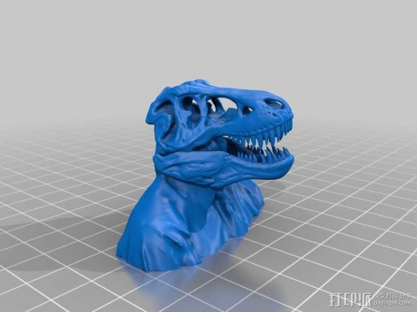 恐龙人像半身像 3D打印模型渲染图
