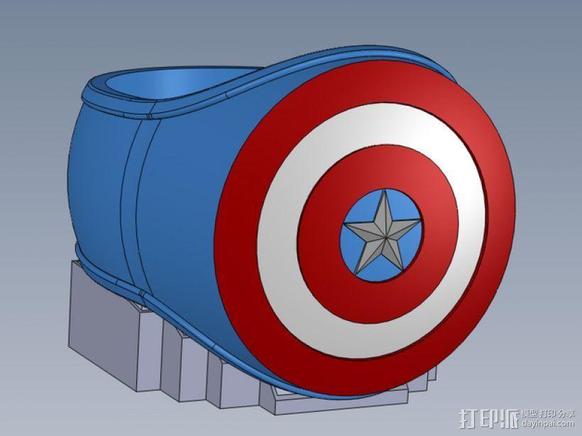 美国队长指环 3D打印模型渲染图