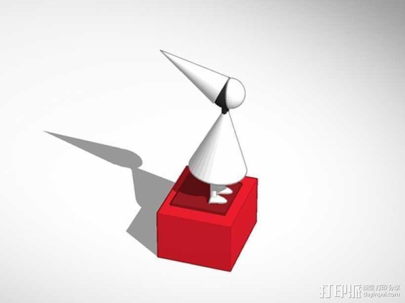 沉默的公主 游戏造型 3D打印模型渲染图