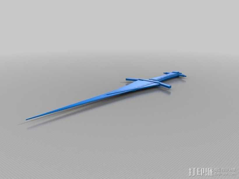 玩具剑  3D打印模型渲染图