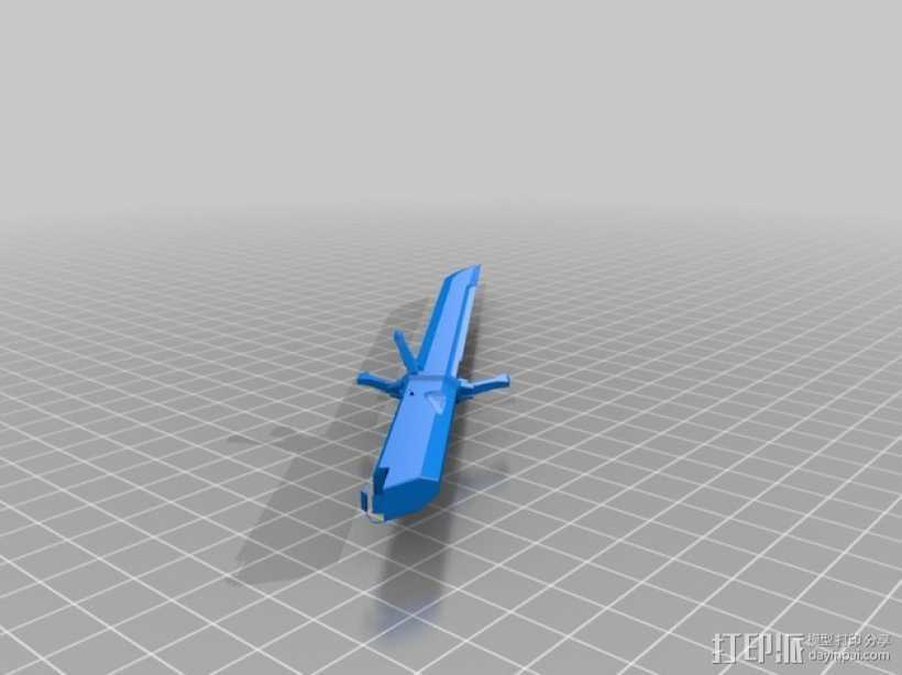 Corvo的剑 3D打印模型渲染图