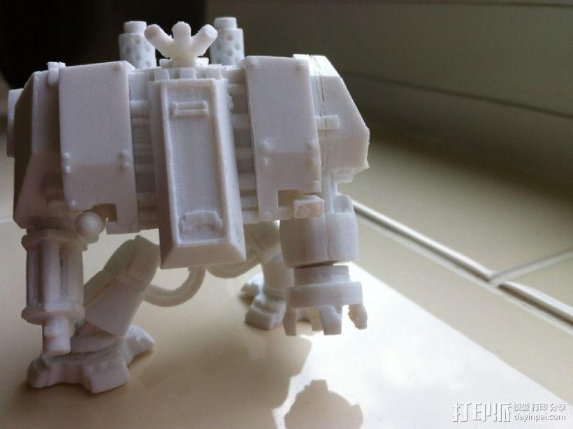 无畏者机器人 3D打印模型渲染图