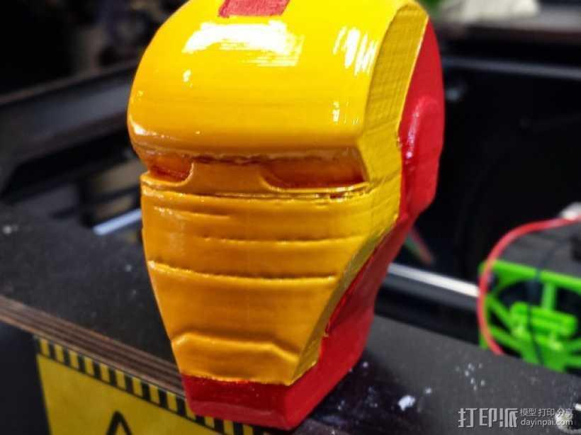 钢铁侠头部模型 3D打印模型渲染图