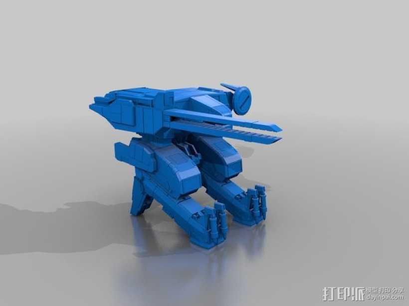 合金装备机甲 3D打印模型渲染图
