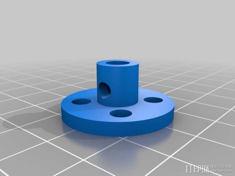 马达轮座 3D打印模型渲染图