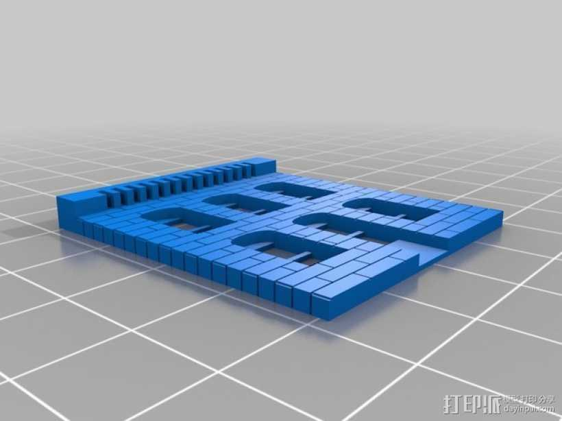 建筑物墙面 3D打印模型渲染图