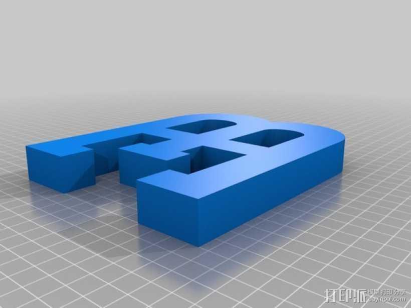布加迪汽车标志 3D打印模型渲染图