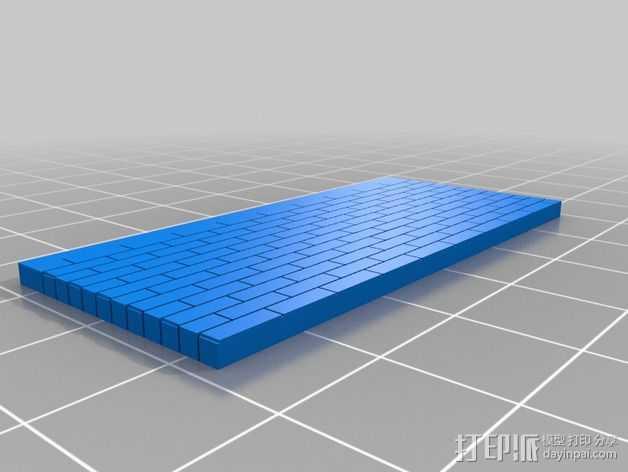 墙壁模型 3D打印模型渲染图
