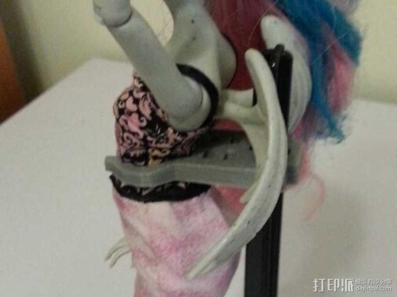怪物精灵人偶夹 3D打印模型渲染图