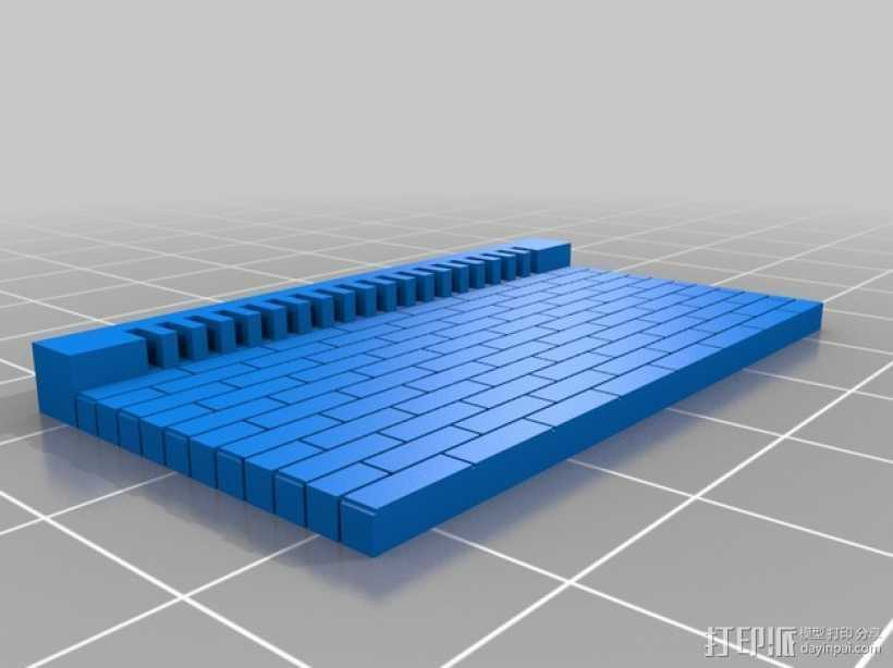 模组化墙壁 3D打印模型渲染图