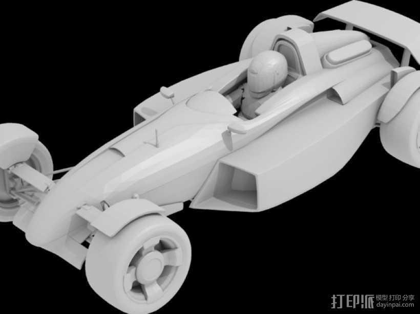 赛车模型 3D打印模型渲染图