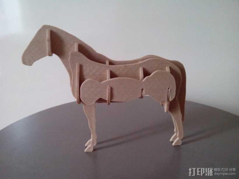 拼组马 3D打印模型渲染图