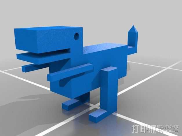 恐龙机器人 3D打印模型渲染图