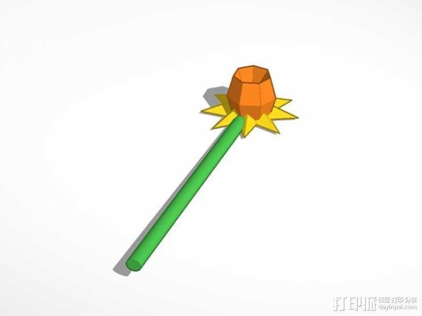 水仙花 3D打印模型渲染图